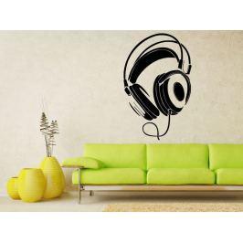 Samolepka na zeď Sluchátka 001