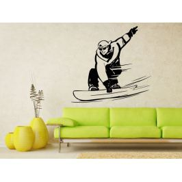 Samolepka na zeď Snowboardista 004