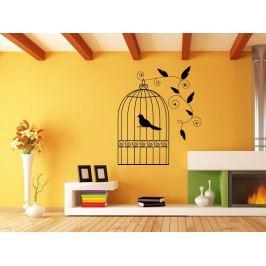 Samolepka na zeď Ptáci v kleci 003