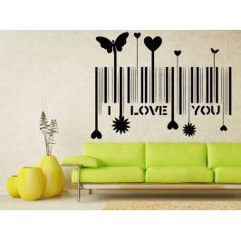 Samolepka na zeď I love you 001