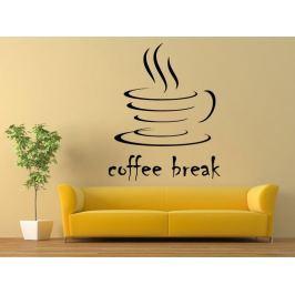 Samolepka na zeď Nápis Coffee break 0043