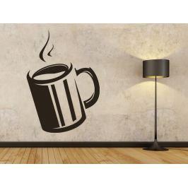 Samolepka na zeď Hrnek kávy 0049