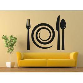 Samolepka na zeď Příbory a talíř 0090