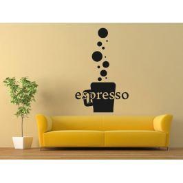 Samolepka na zeď Káva espresso 0110