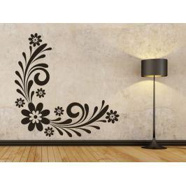 Samolepka na zeď Ornament s květinami 0178