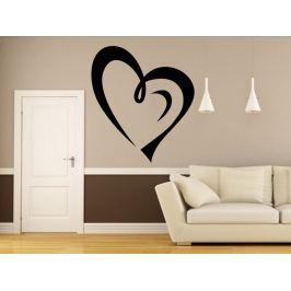 Samolepka na zeď Srdce 0252