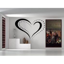 Samolepka na zeď Srdce 0253