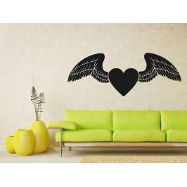 Samolepka na zeď Srdce s křídly 0268