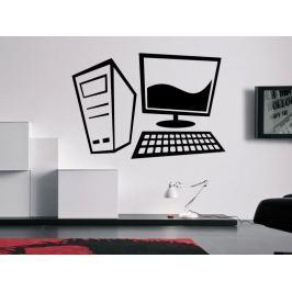 Samolepka na zeď Stolní počítač 0293