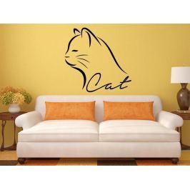 Samolepka na zeď Kočka 0474