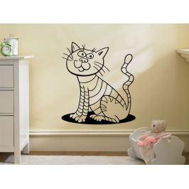 Samolepka na zeď Kočička 0514