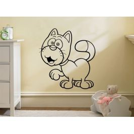 Samolepka na zeď Kočička 0527