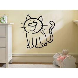 Samolepka na zeď Kočička 0529