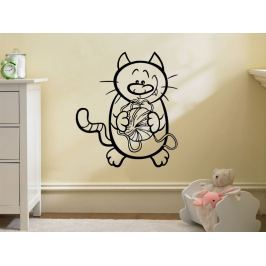 Samolepka na zeď Kočička 0530