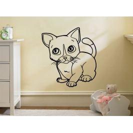 Samolepka na zeď Kočička 0537