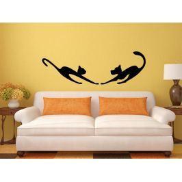 Samolepka na zeď Kočka a pes 0564