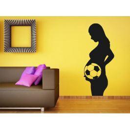 Samolepka na zeď Těhotná s fotbalistou 0574