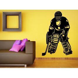 Samolepka na zeď Hokejista 0596