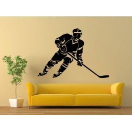 Samolepka na zeď Hokejista 0598