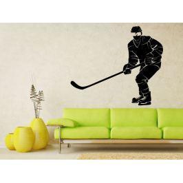 Samolepka na zeď Hokejista 0604
