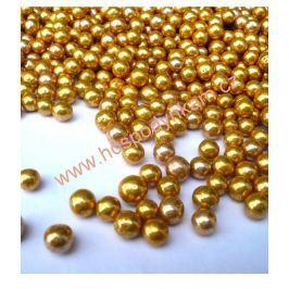 Cukrové zdobení perličky zlaté