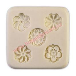 Silikonová forma na marcipán - malé květinky