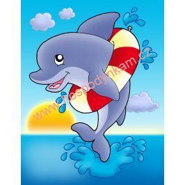 Jedlý papír delfín - obdélník