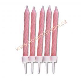 Dortové svíčky růžové