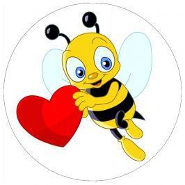 Jedlý papír včelka se srdíčkem