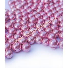 Cukrové zdobení - perličky růžové 40g