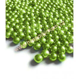 Cukrové zdobení - perličky zelené 50g