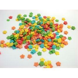 Cukrové zdobení Barevné hvězdičky 50g
