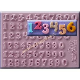 Silikonová forma na marcipán 6 druhů číslic