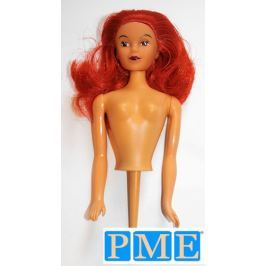 Figurka na dort - zapichovací panenka rusovláska