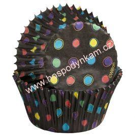 Cukrářské košíčky na pečení Wilton černé s puntíky
