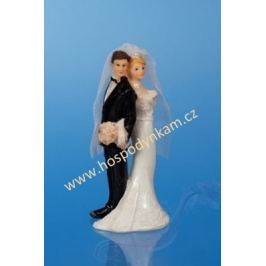Figurka na dort - nevěsta a ženich 11cm I