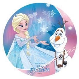 Modecor Jedlý papír Frozen Elsa a Olaf