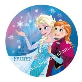 Modecor Jedlý papír Frozen Anna a Elsa s vločkou