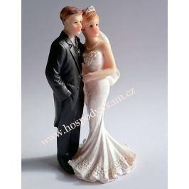 Figurka na dort - nevěsta a ženich ležérní
