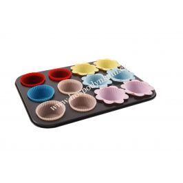 Forma na muffiny se silikonovými košíčky 12ks