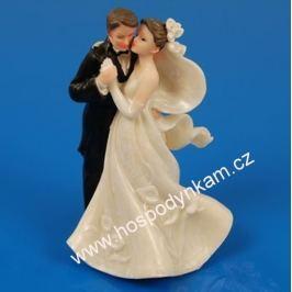 Figurka na dort - nevěsta a ženich tančící