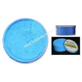 Prachová barva neonová modrá