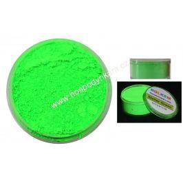 Prachová barva neonová zelená