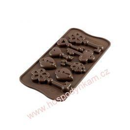 Silikomart Silikonová forma na čokoládu Keys