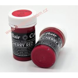 Gelová barva Sugarflair Cherry Red 25g