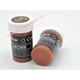 Gelová barva Sugarflair Brown 25g