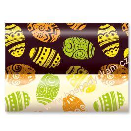 Transfer fólie na čokoládu - velikonoční vajíčka