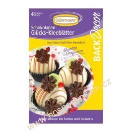 Čokoládová dekorace Čtyřlístky 48ks