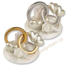 Figurka na dort - snubní prsteny