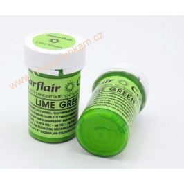 Gelová barva Sugarflair Lime Green 25g